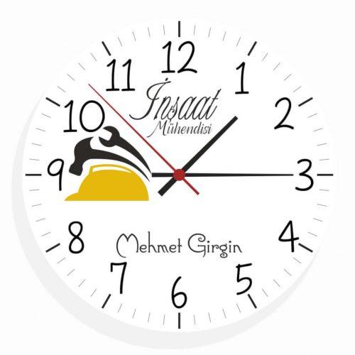 İnşaat Mühendisi Duvar Saati (2.Tasarım)