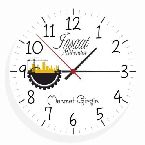 İnşaat Mühendisi Duvar Saati (3.Tasarım)