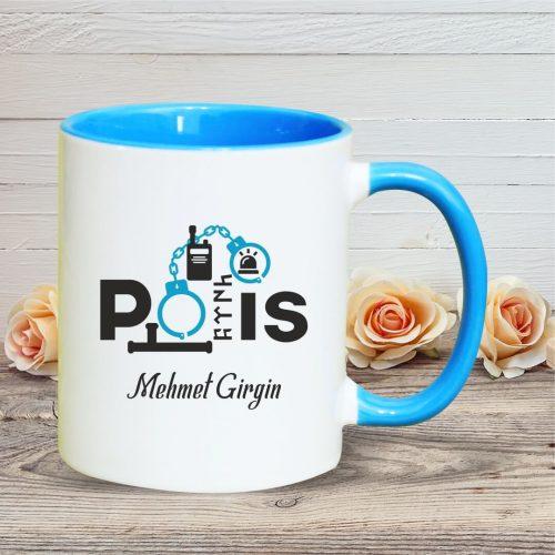 Polis Kupası (Bardak) İsimli Mavi Renk