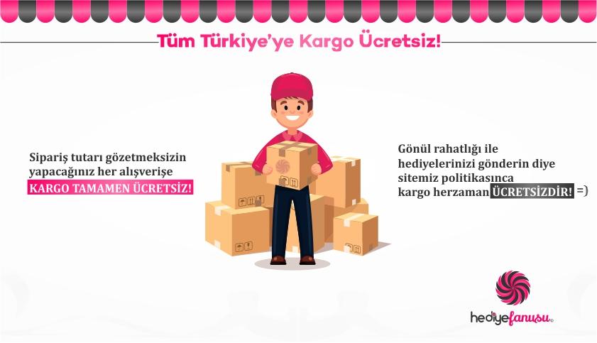 Tüm Türkiyeye Kargo Bedava!