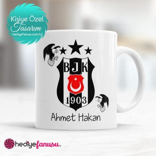 İsme Özel Beşiktaş Bardak
