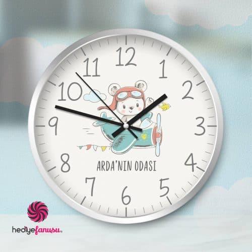 Bebek Duvar Saati Erkek Çocuk İçin