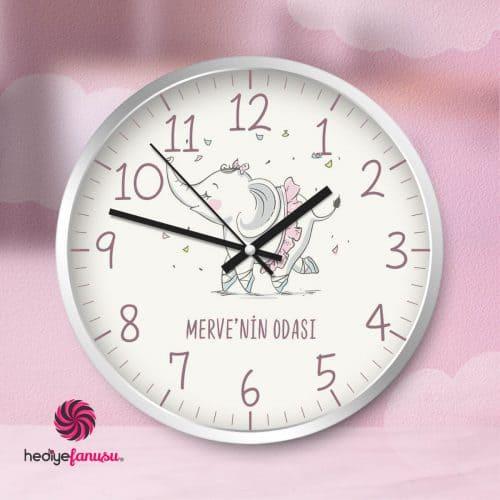 Bebek Duvar Saati Kız Çocuk İçin