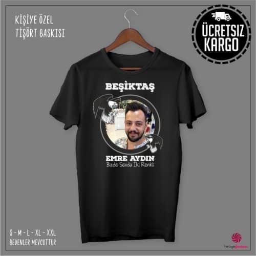 Beşiktaş Resimli Kişiye Özel Tişört Baskısı