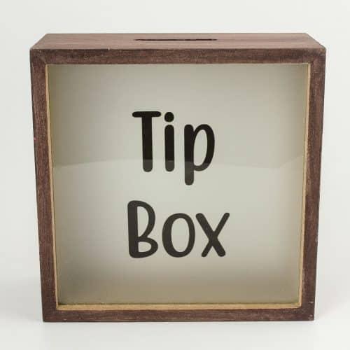 Tip Box Ahşap Ve Cam Tasarımlı Kumbara