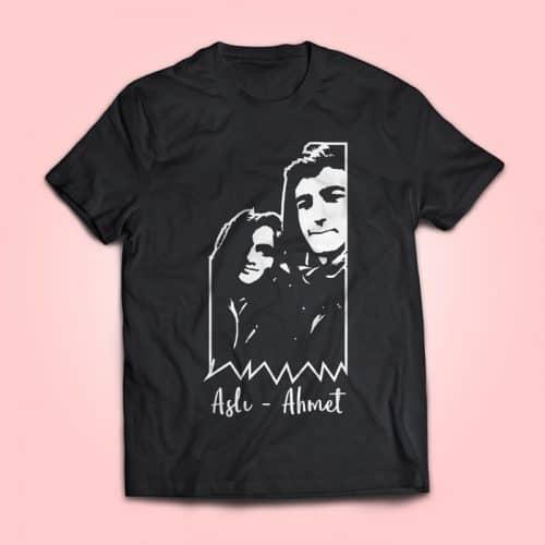Sevgili Silüet Baskılı Tişört